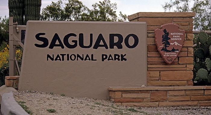 Rincon Mountain District: Eingangsschild Saguaro National Park