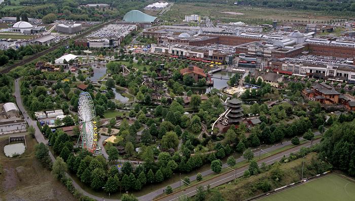 Oberhausen Blick vom Gasometer: CentrO
