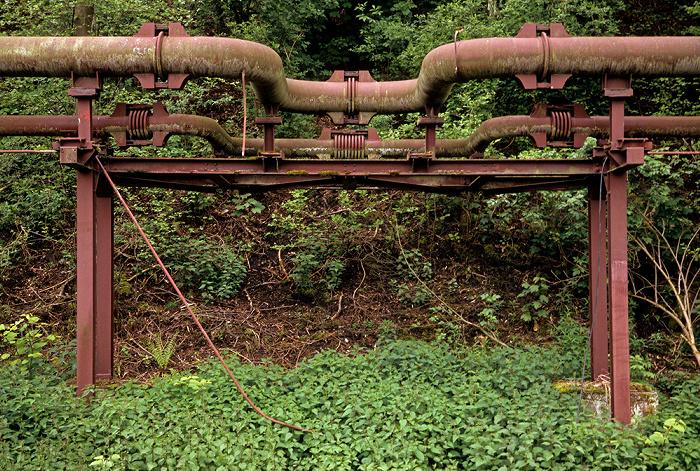 Essen Zeche Zollverein: Rohrleitungen