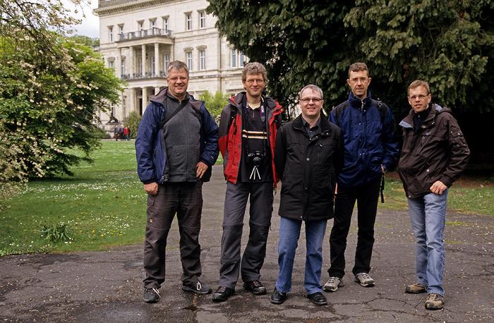 Essen Park der Villa Hügel: Jürgen, Boris, Uwe, Jörg, Ralph