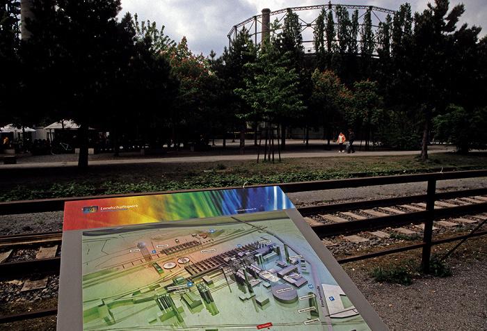 Landschaftspark Duisburg-Nord: Geländeplan Tauchgasometer