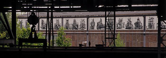 Landschaftspark Duisburg-Nord: Blick vom Hochofen 5: Kraftzentrale
