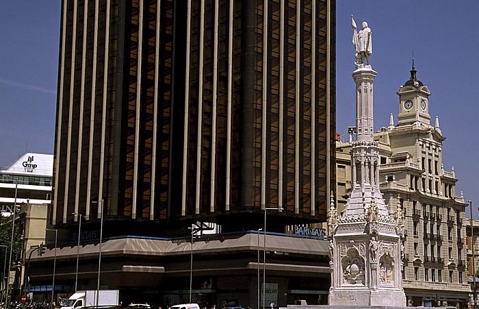 Madrid Paseo de la Castellana: Plaza de Colón Monumento a Cristóbal Colón Torres de Colón