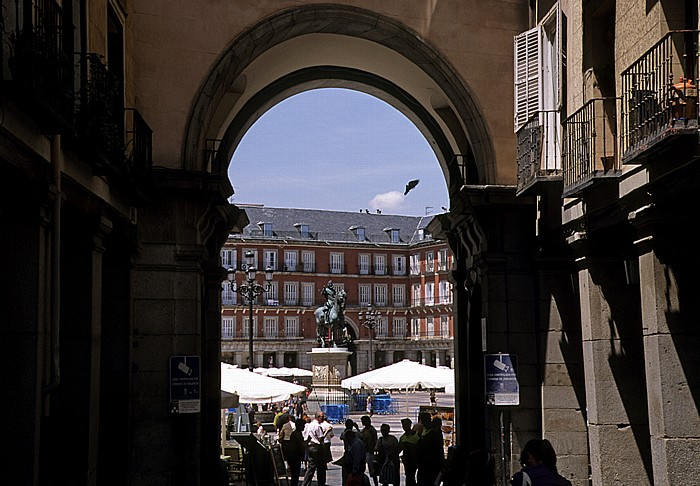 Madrid Plaza Mayor Reiterstandbild von Philipp III.