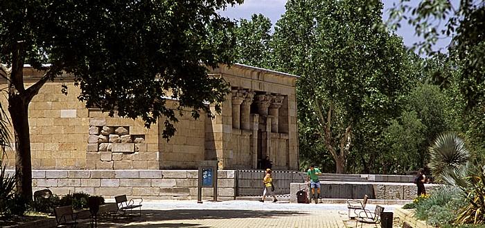 Madrid Parque del Oeste: Tempel von Debod