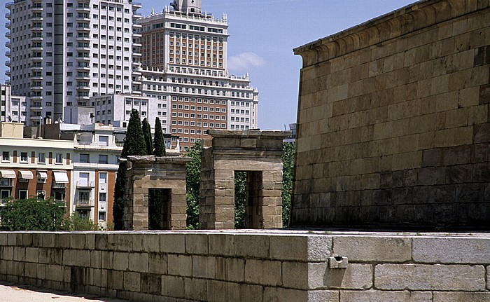 Madrid Parque del Oeste: Tempel von Debod Torre de Madrid