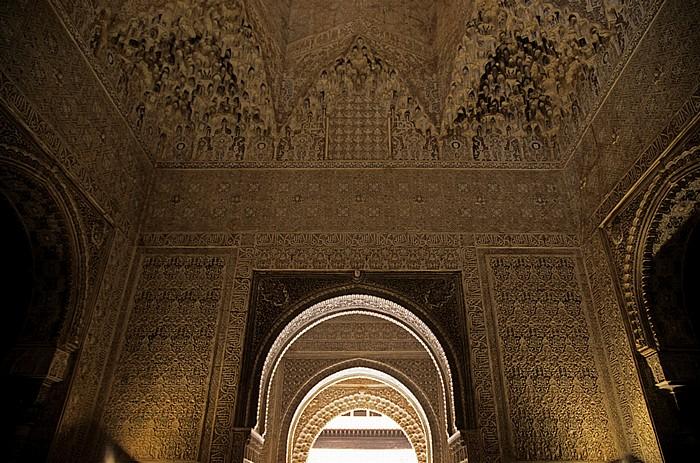 Granada Alhambra: Palacios Nazaríes: Patio de los Leones (Löwenhof): Sala de los Abencerrajes (Abencerragensaal)
