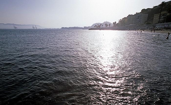 Málaga Playa de los Baños del Carmen, Costa del Sol (Mittelmeer)