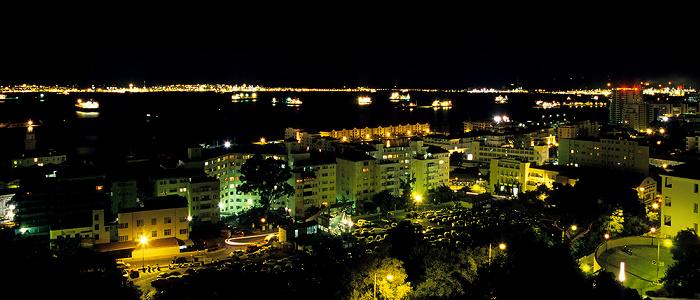 Blick vom The Rock Hotel: Bahía de Algeciras (Bay of Gibraltar)