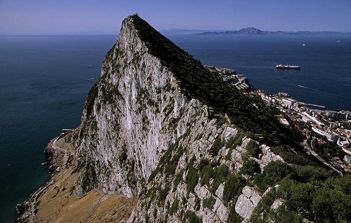 Fels von Gibraltar, Straße von Gibraltar, Nordafrika Water Catchment Area