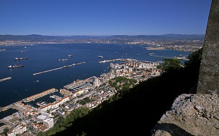 Blick vom Fels von Gibraltar: Bahía de Algeciras (Bay of Gibraltar)