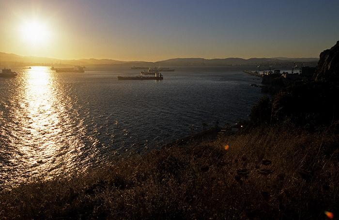 Sonnenuntergang über der Bahía de Algeciras (Bay of Gibraltar)