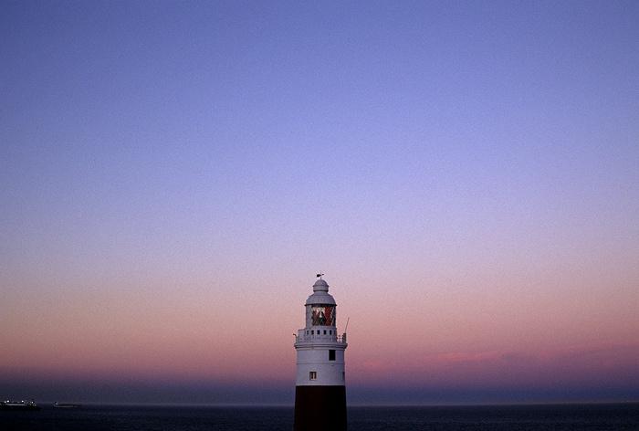 Gibraltar Europa Point: Sonnenuntergang über dem Leuchtturm Europa Point Leuchtturm