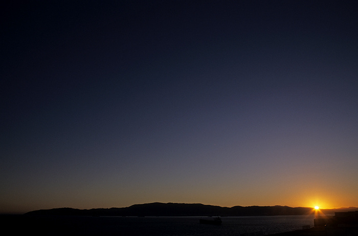 Blick vom Europa Point: Sonnenuntergang über der Bahía de Algeciras (Bay of Gibraltar)