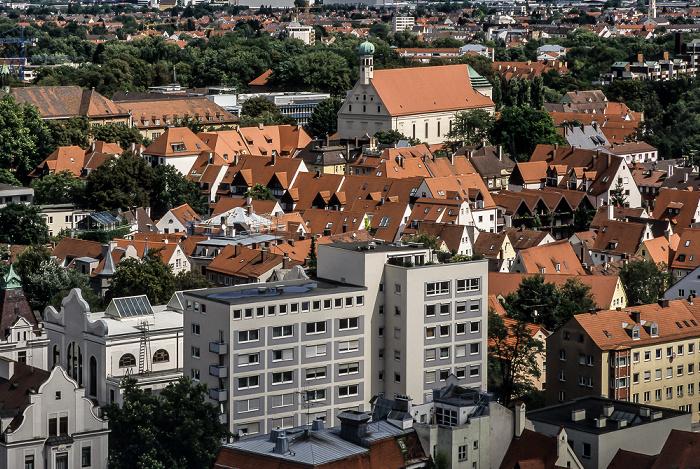 Augsburg Blick vom Turm von St. Peter am Perlach