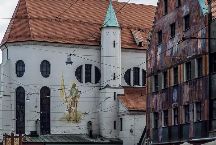 Augsburg Maximilianstraße: St. Moritz und Weberhaus