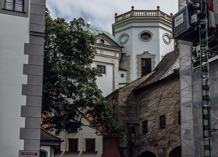 Augsburg Wassertürme am Roten Tor: Kleiner Wasserturm und Großer Wasserturm Brunnenmeisterhaus