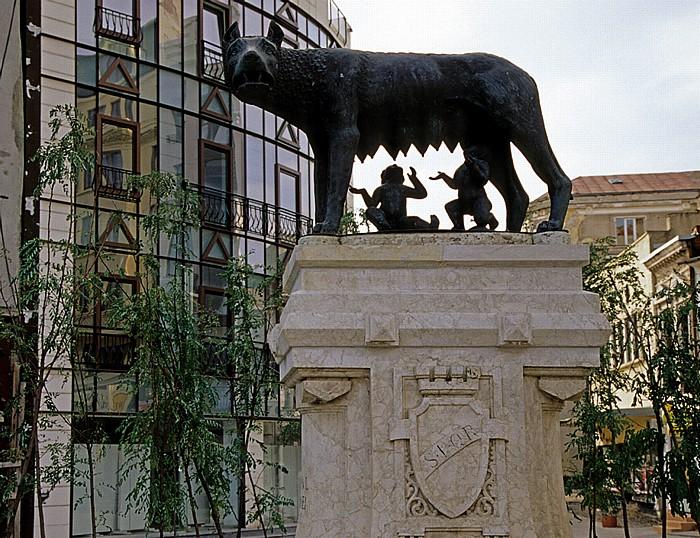 Bukarest Bulevardul Ion C. Bratianu: Römische Wölfin (Lupoaica)