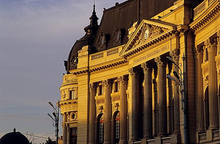 Bukarest Revolutionsplatz (Piata Revolutiei): Universitätsbibliothek