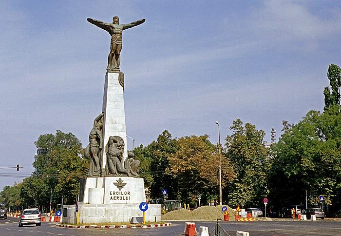 Bukarest Bulevardul Aviatorilor: Fliegerdenkmal (Eroilor Aerului)