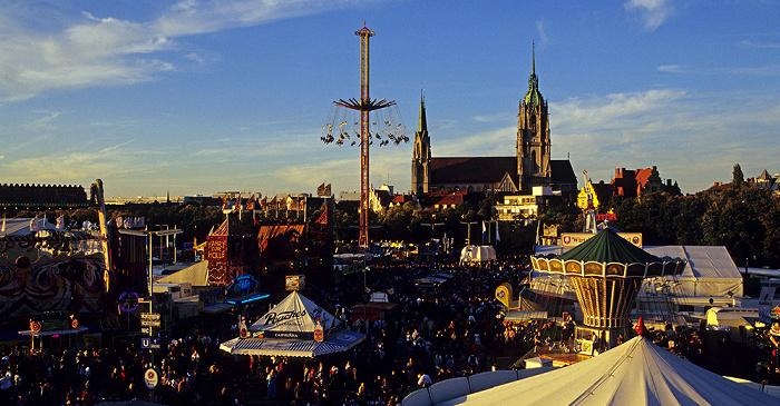 Theresienwiese: Oktoberfest: Blick aus dem Kleinem Riesenrad München