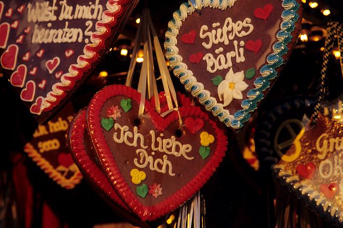 Theresienwiese: Oktoberfest: Lebkuchenherzen München