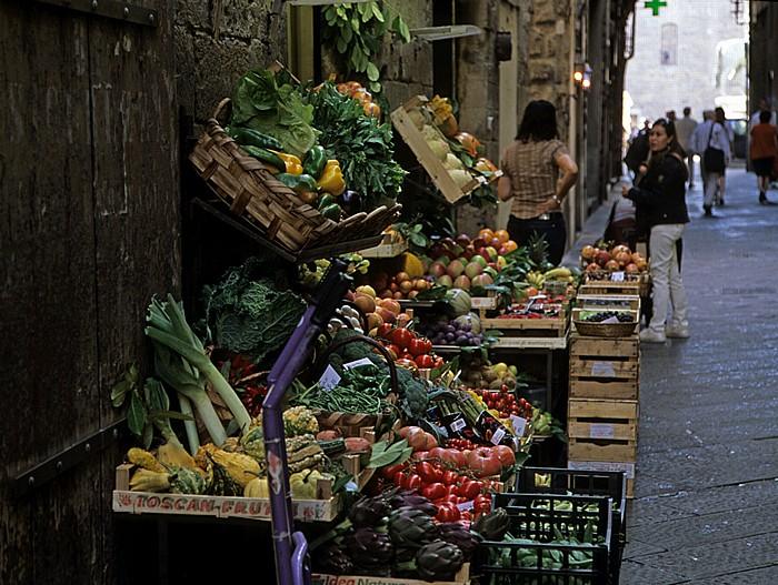 Florenz Via de' Cerchi: Gemüsestand