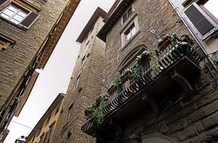 Florenz Via del Corso: Torre dei Ricci (links), Torre dei Ghiberti