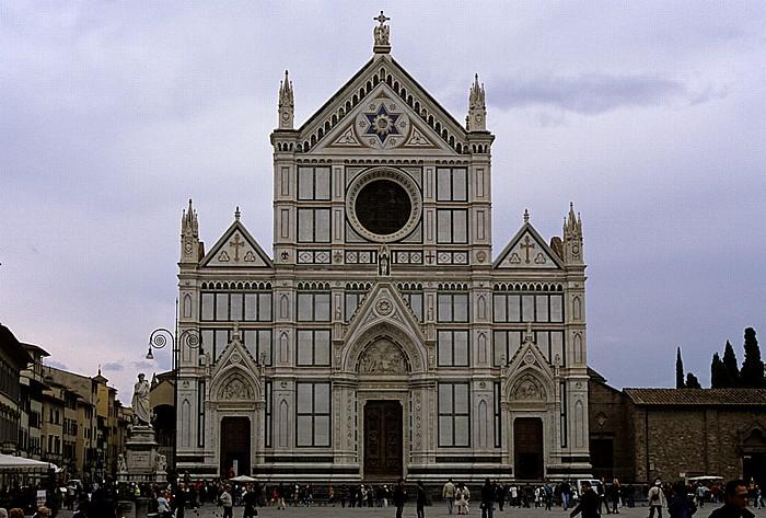 Florenz Piazza Santa Croce: Basilica di Santa Croce Dante-Alighieri-Denkmal