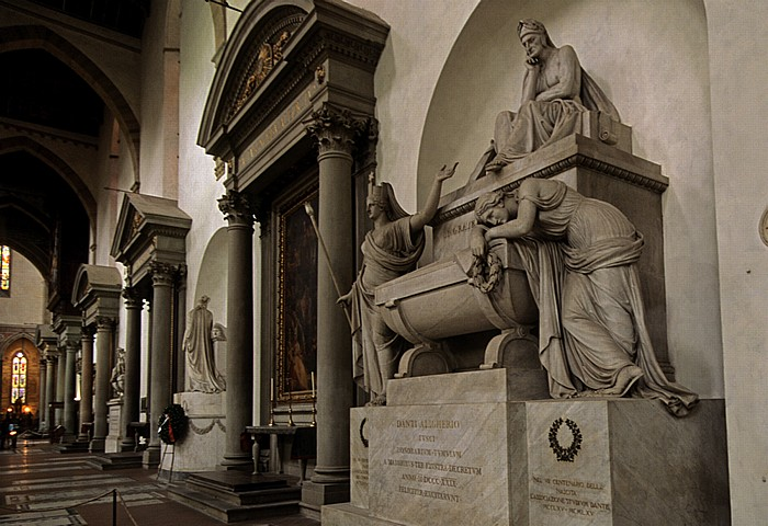 Florenz Basilica di Santa Croce: Grabmal für Dante Alighieri