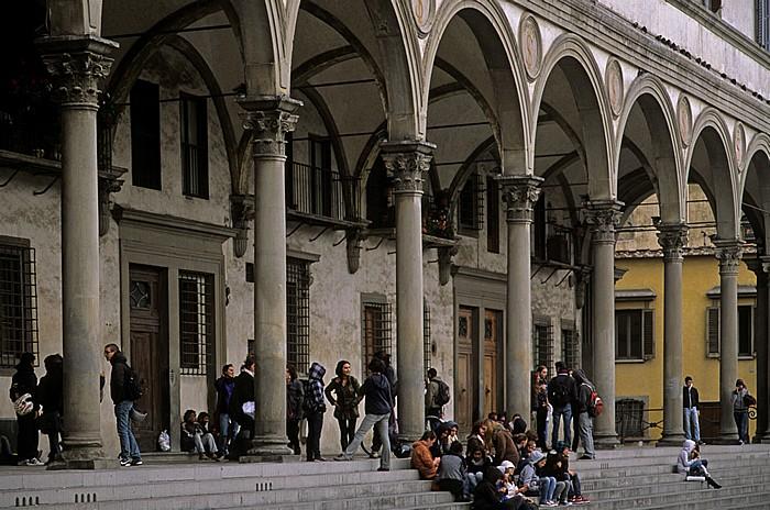 Florenz Piazza della Santissima Annunziata: Loggia dei Servi di Maria (Loggiato della Confraternita dei Servi di Maria)