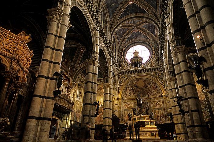 Siena Dom (Cattedrale di Santa Maria Assunta): Innenraum zur Apsis