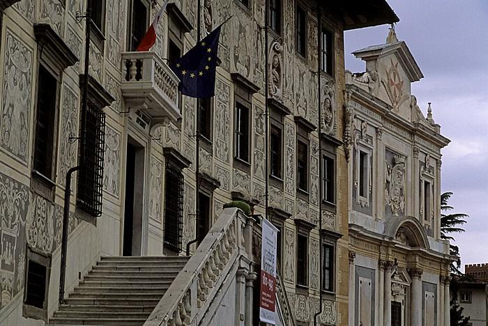 Pisa Piazza dei Cavalieri: Palazzo della Carovana (Scuola Normale Superiore), Chiesa di Santo Stefano dei Cavalieri
