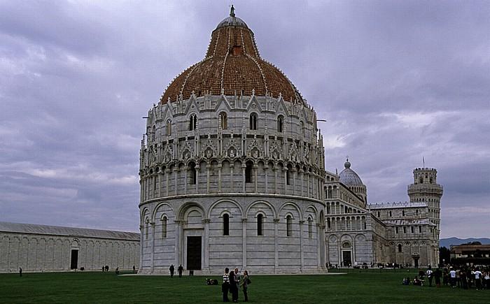 Pisa Piazza dei Miracoli (Piazza del Duomo) Baptisterium Campanile Camposanto Monumentale Dom Schiefer Turm