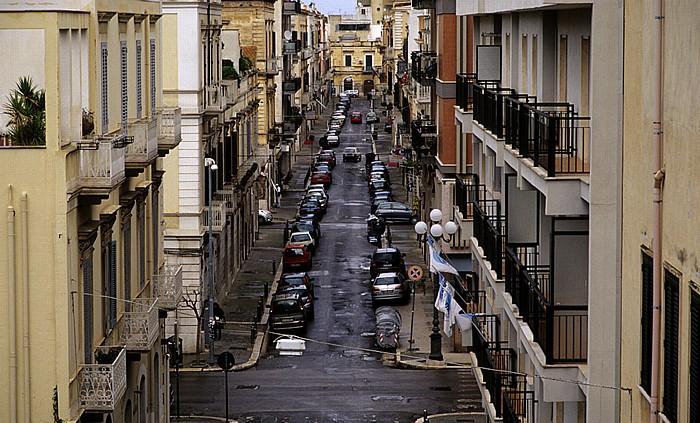 Trani Blick aus dem Hotel Royal: Via Margherita di Borgogna
