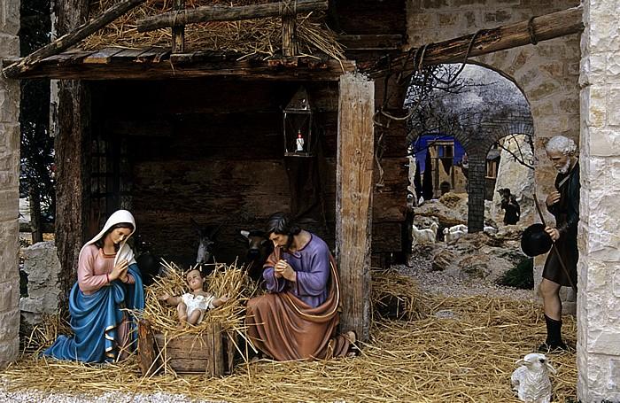 Trani Piazza Libertà: Weihnachtskrippe