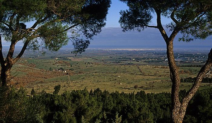 Andria Blick vom Castel del Monte: Apulien, Mittelmeer (Adria)
