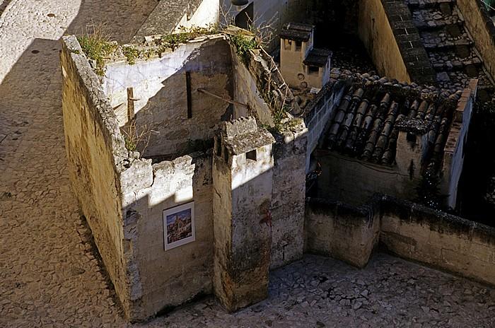 Matera Blick vom Belvedere Luigi Guerricchio: Sasso Barisano
