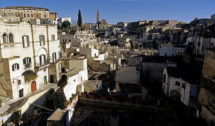 Matera Blick vom Belvedere Luigi Guerricchio: Sasso Barisano Cattedrale