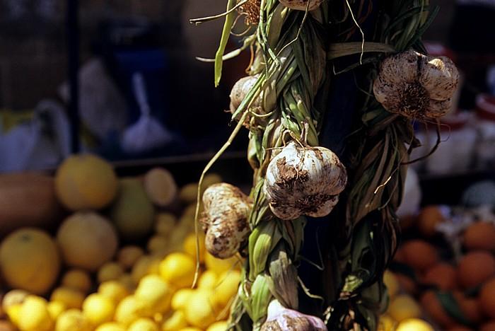 Nikosia Griechische Altstadt: Markt: Knoblauch