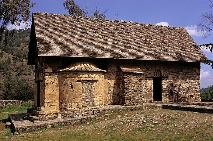 Asinou Troodos-Gebirge: Scheunendachkirche Panagia (Kirche der Jungfrau Maria)
