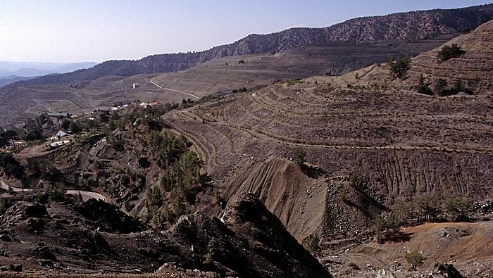 Kourdali Troodos-Gebirge: Ehem. Asbest-Tagebau
