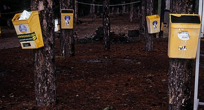 Olympos Troodos-Gebirge: Abfalleimer der Skischulen