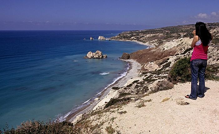 Petra tou Romiou Mittelmeer, Küste Felsen der Aphrodite Sarazenen-Felsen