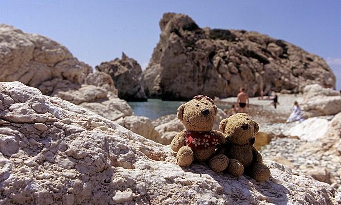 Petra tou Romiou Felsen der Aphrodite: Teddine und Teddy