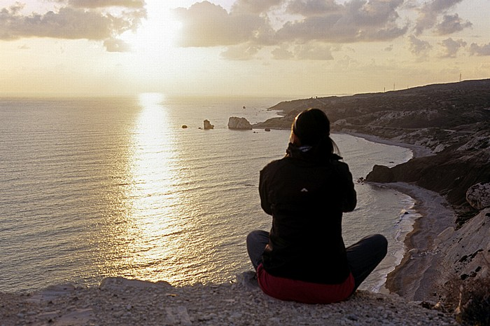 Petra tou Romiou Sonnenuntergang über dem Mittelmeer Felsen der Aphrodite