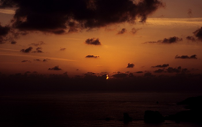 Petra tou Romiou Sonnenuntergang über dem Mittelmeer: Felsen der Aphrodite