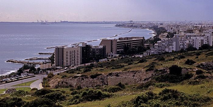 Amathous Blick auf Limassol und das Mittelmeer