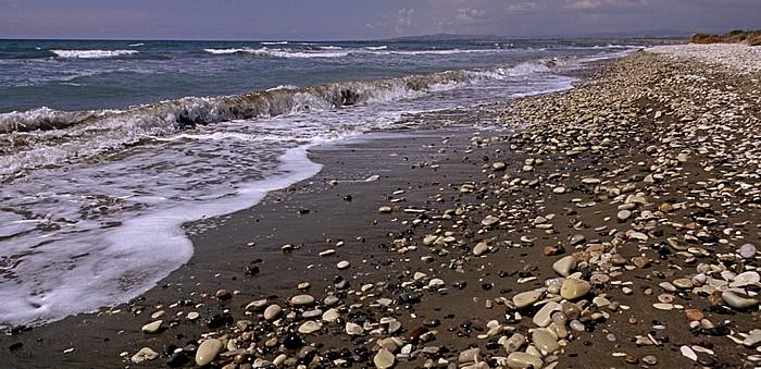 Perivolia Kap Kition: Mittelmeer, Küste