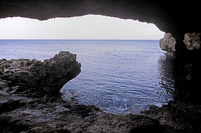 Kap Greco Küste, Mittelmeer, Seehöhle